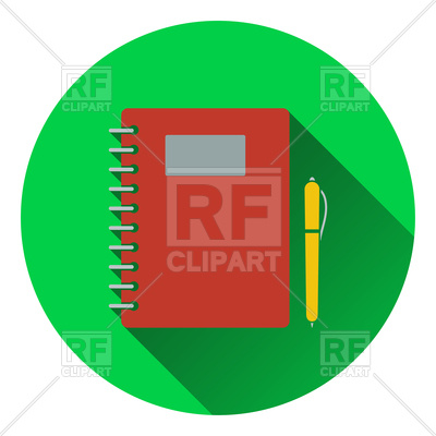 400x400 Flat Design Icon Of Exercise Book Royalty Free Vector Clip Art