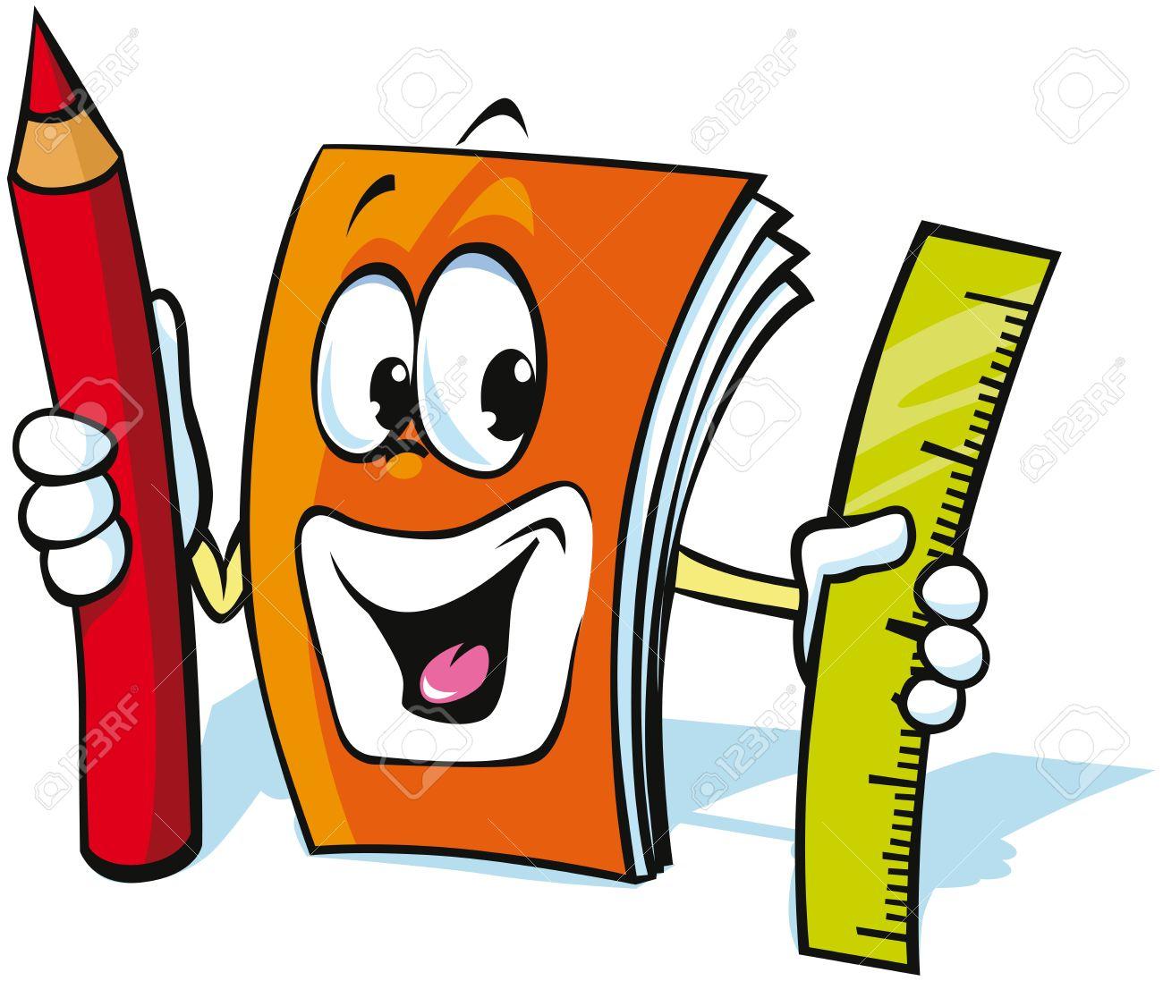 1300x1097 Funny Exercise Book Cartoon Royalty Free Cliparts, Vectors,