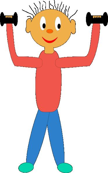 372x594 Cartoon Exercise Clipart Kid