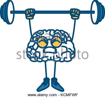 343x320 Cute Brain Cartoon Doing Exercise Stock Vector Art Amp Illustration