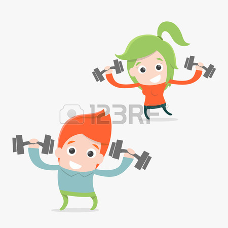 450x450 Exercise Cartoon, Vector Royalty Free Cliparts, Vectors, And Stock