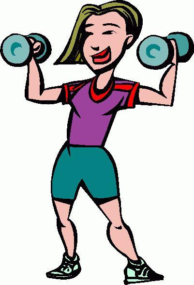 401x588 Cartoon Lady Lifting Weights