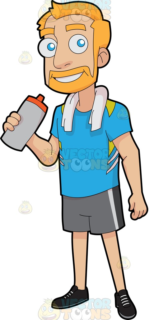 479x1024 A Happy Guy Drinking Water To Replenish Himself After Exercise