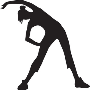299x300 Exercise Silhouette Clip Art