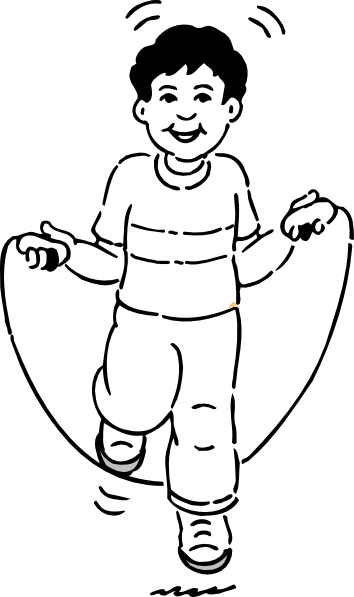 354x597 Jump Clipart Black And White