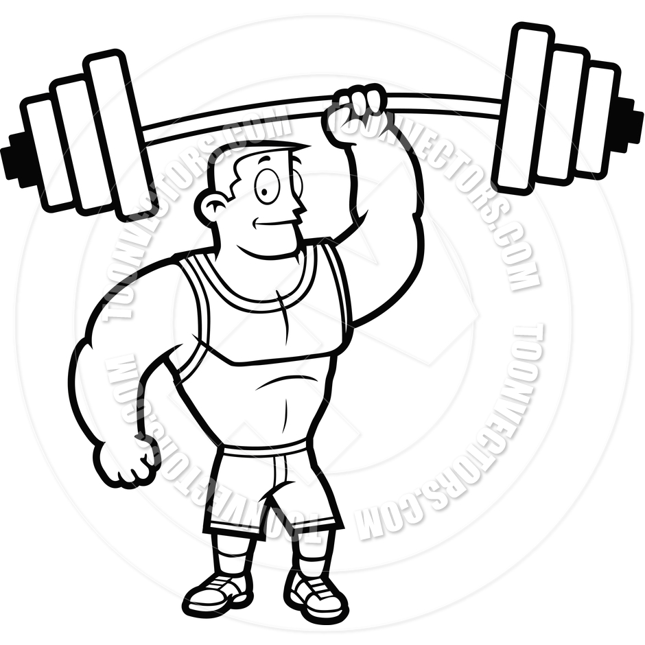 940x940 Man Lifting Weights Clip Art Black And White