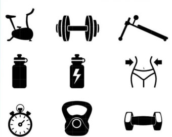 340x270 Workout Clipart Etsy