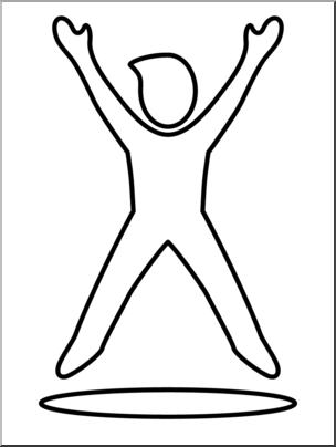 304x404 Clip Art Simple Exercise Jumping Jacks Bampw I Abcteach