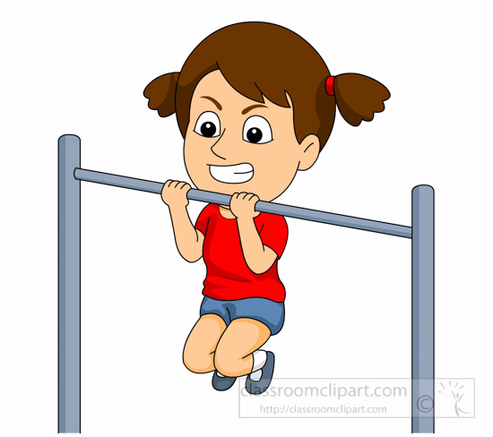 550x488 Girl Exercising Cliparts