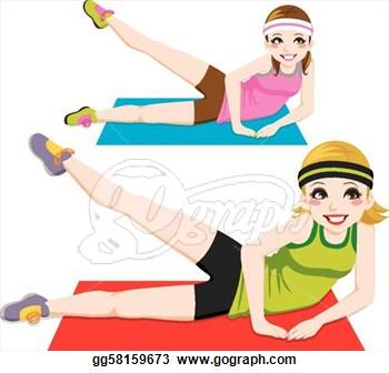 350x336 Cartoon Workout Clipart