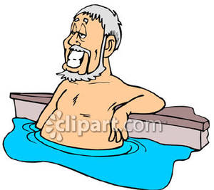 300x267 Old Man In A Pool