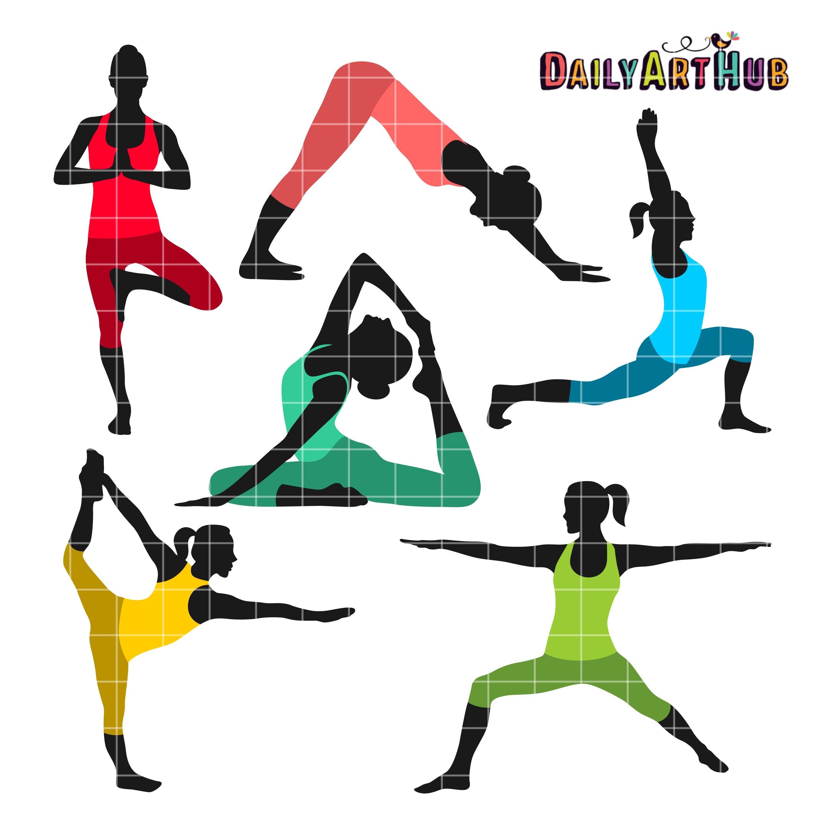 2664x2670 Yoga Poses Clip Art Set Daily Art Hub