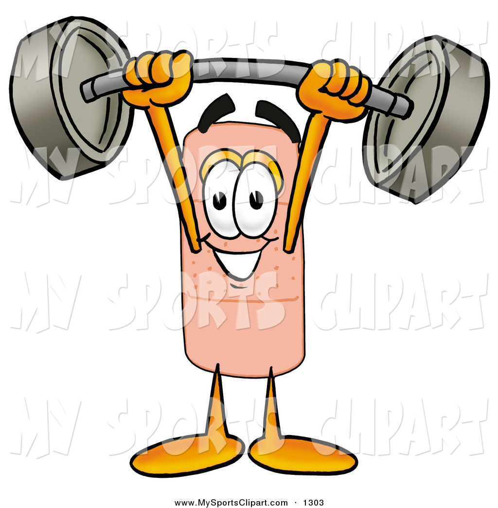 1024x1044 Sports Clip Art Of A Strong Bandaid Bandage Mascot Cartoon