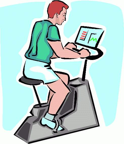490x569 Bicycle Clipart Stationary Bike
