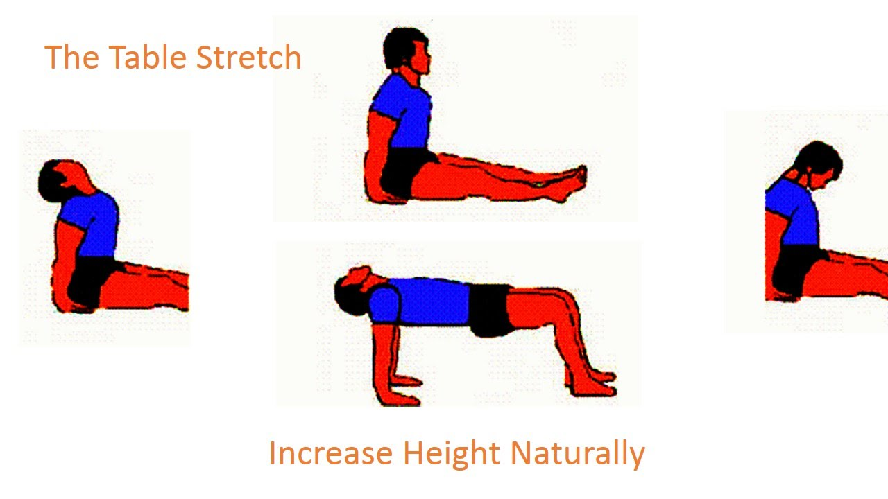 1280x720 How To Grow Tall Increase Height Exercise (The Table Exercise