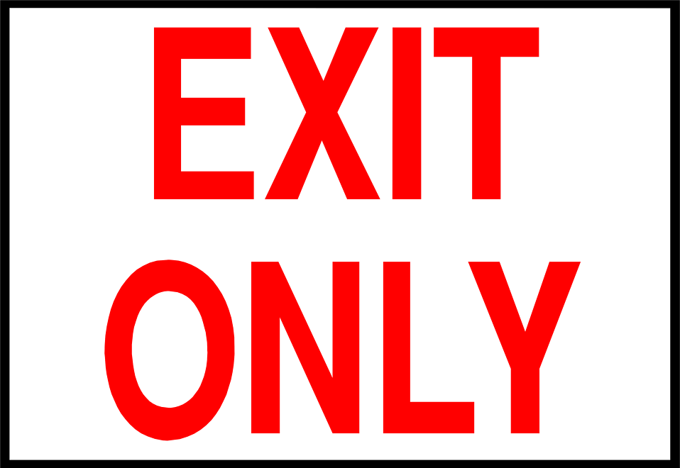 photograph about Printable Exit Signs referred to as Choice of Exit indication clipart Free of charge obtain suitable Exit