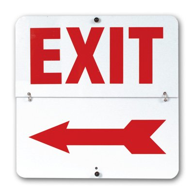 400x400 Exit Flip Signs, Emergency Exit Signs, Flip Signs Seton