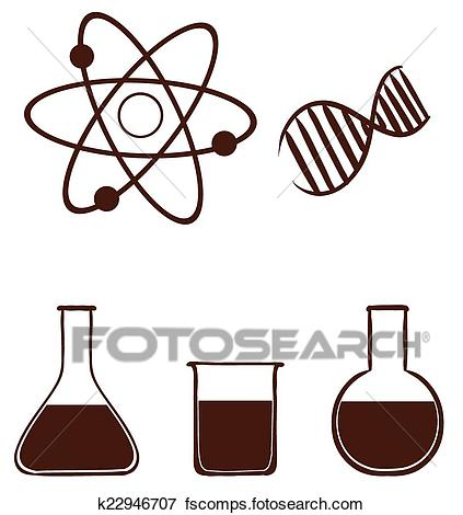 423x470 Clip Art Of A Simple Science Experiment K22946707