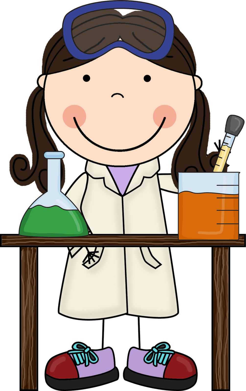 1005x1600 Free Science Experiment Clipart Image