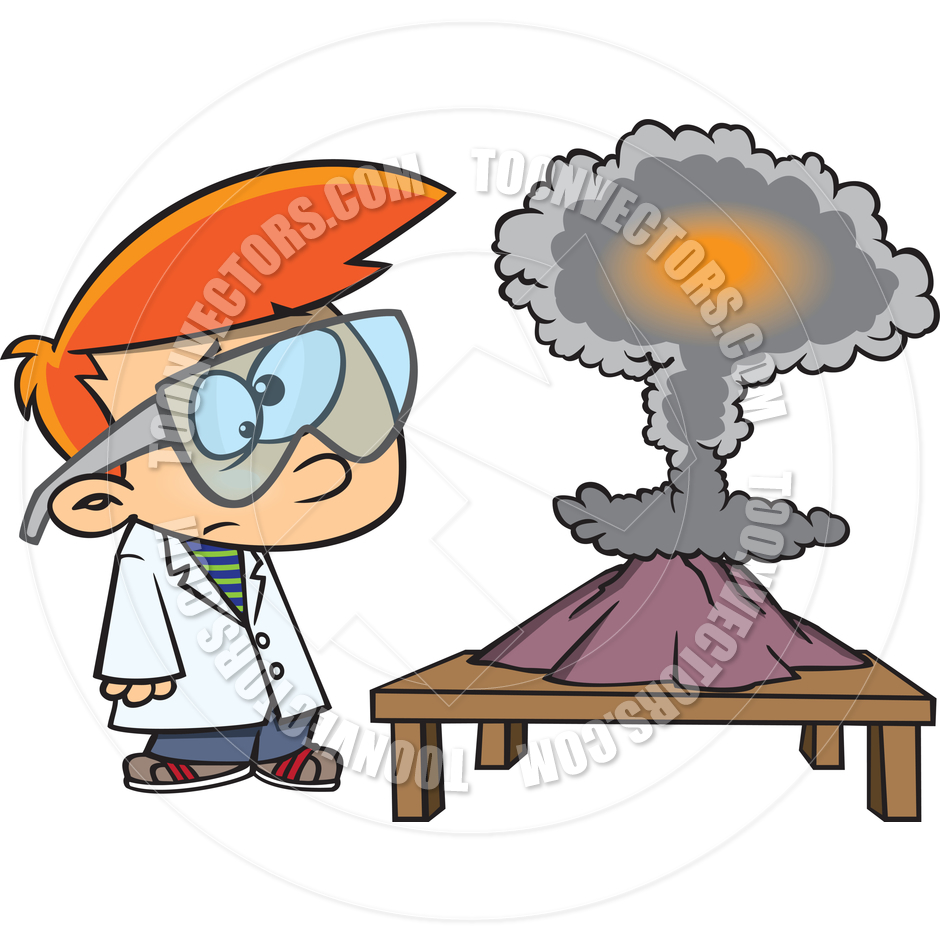 940x940 Cartoon Boy Science Experiment By Ron Leishman Toon Vectors Eps