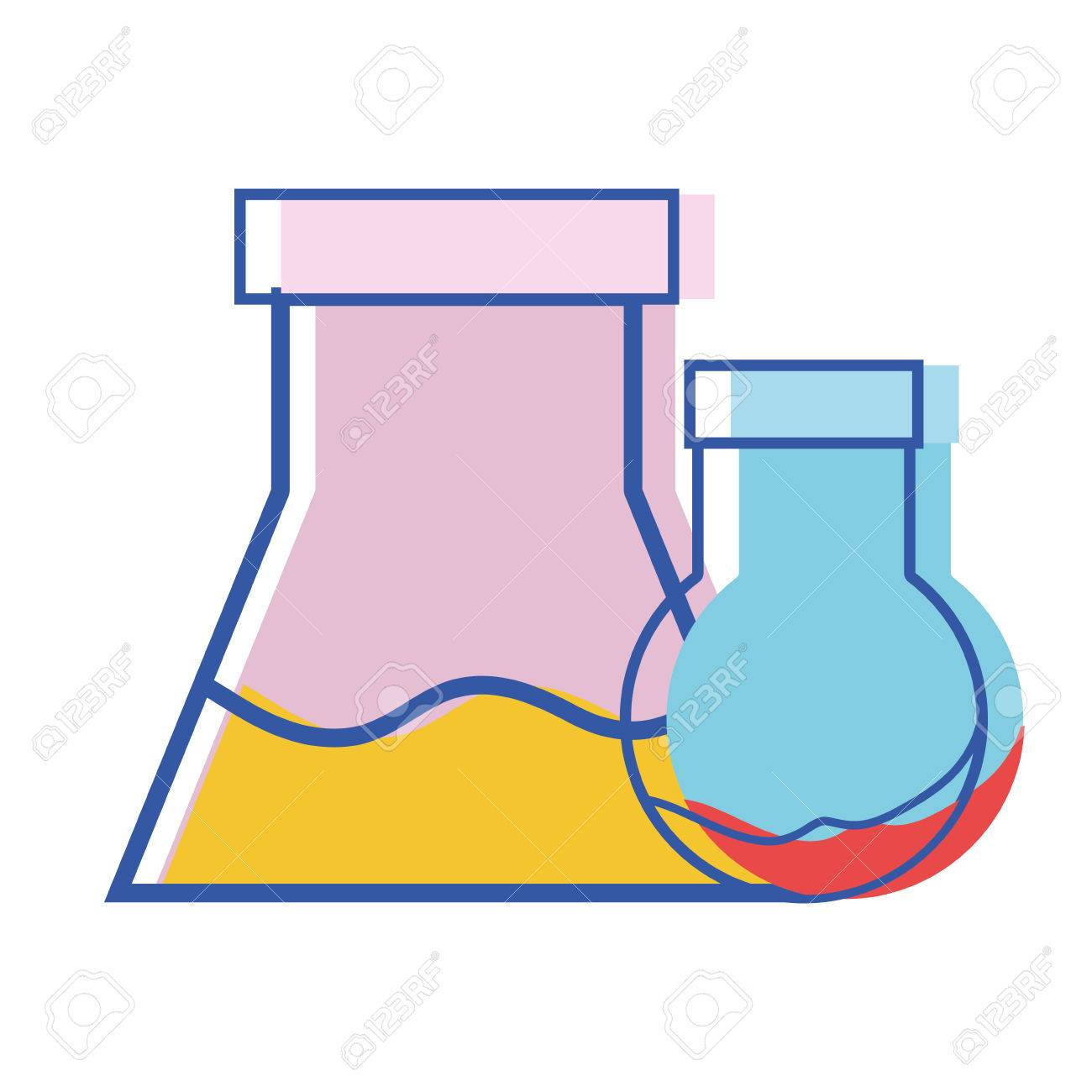 1300x1300 Erlenmeyer Flask To Scientific Experiment Lab Royalty Free