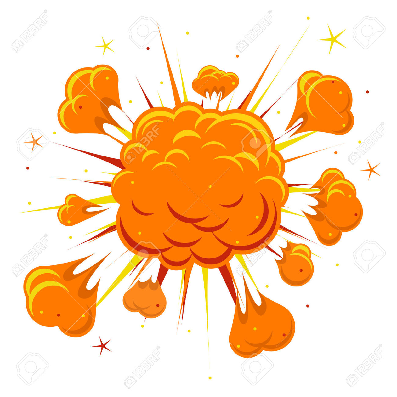 Smoke explosion. Explode clipart free download