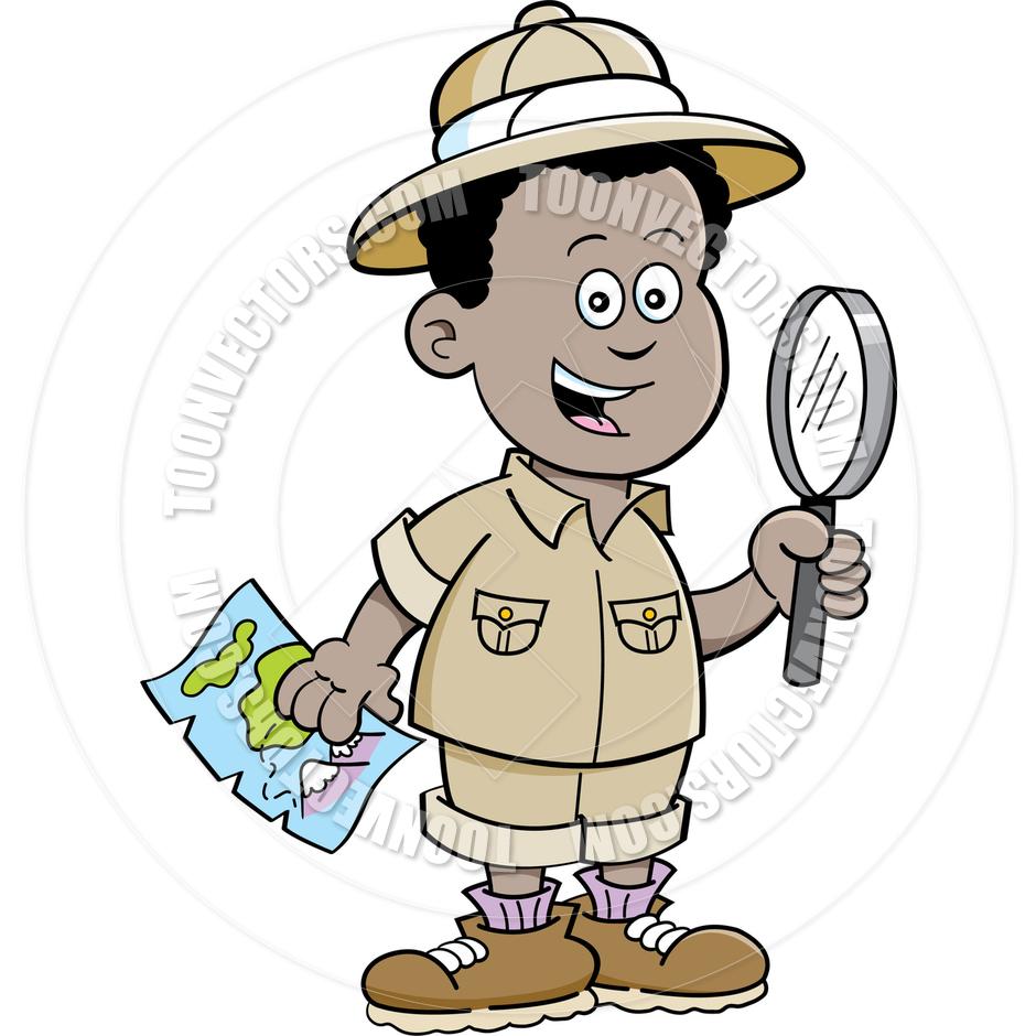 940x940 Cartoon African Boy Explorer By Kenbenner Toon Vectors Eps