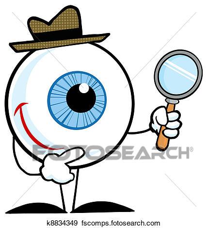 429x470 Clip Art Of Detective Eyeball K8834349