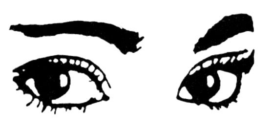 555x272 Eyes Looking Down Clip Art