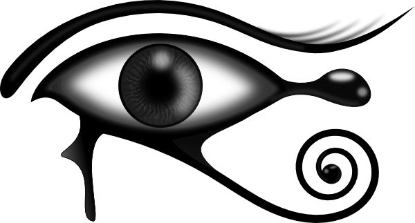 600x323 clipart black and white eye tyrant