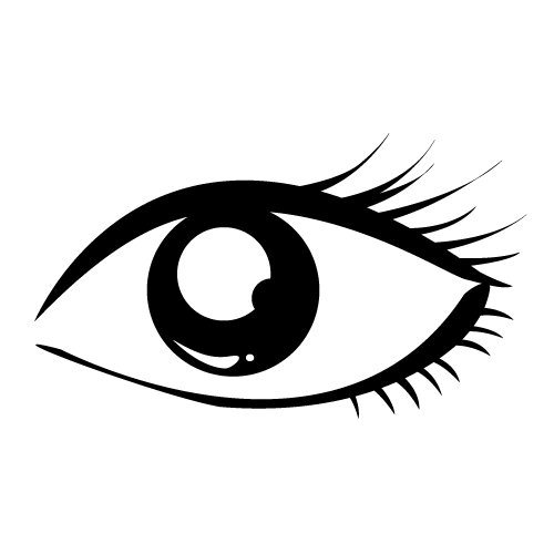 500x500 Black Amp White Clipart Eye