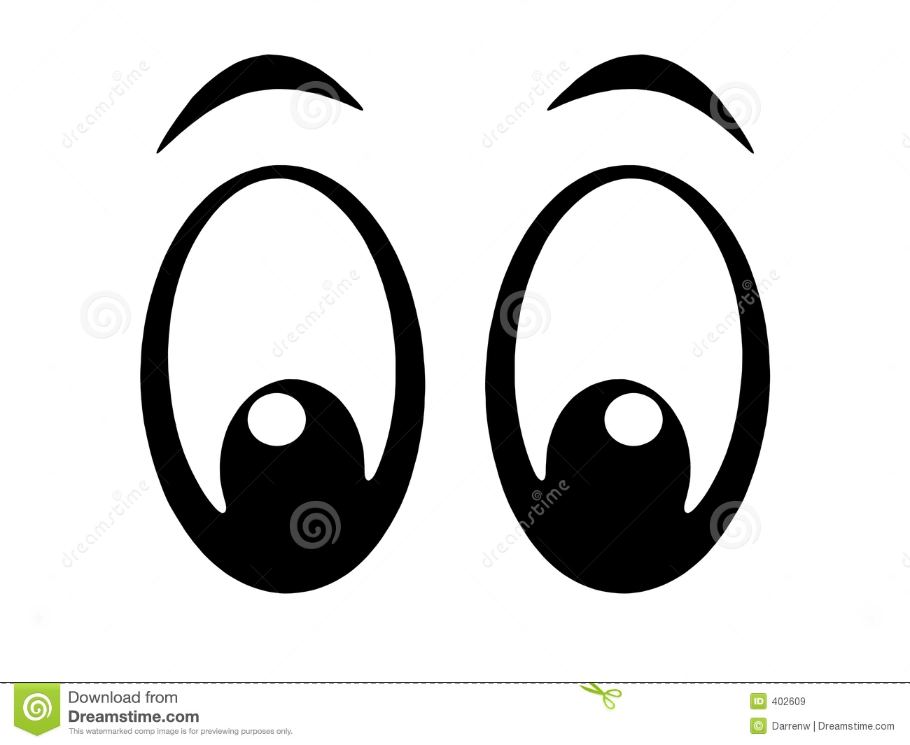 Eye Black And White Clipart