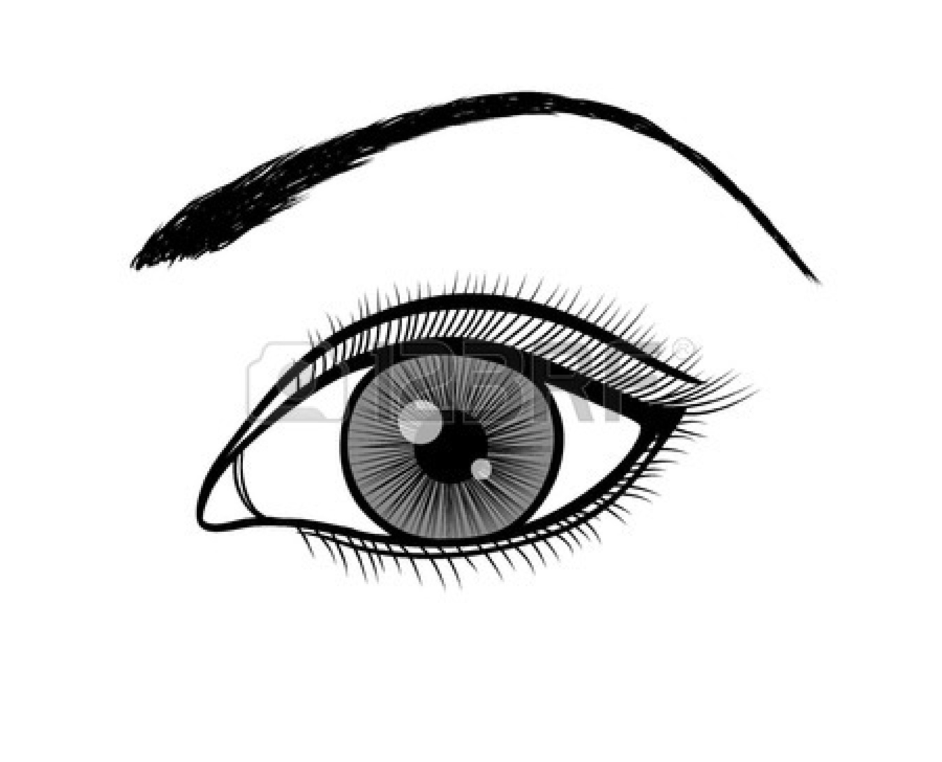 1350x1092 Eye Clipart Black And White