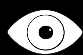 270x180 Eyeball Black And White Eye Clip Art Black And White Eye Image