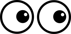 300x144 Eyes Black And White Cartoon Eye Clipart Black And White