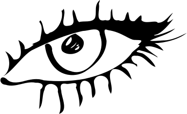384x236 Eyes Black And White Free Black And White Eye Clipart 1 Page