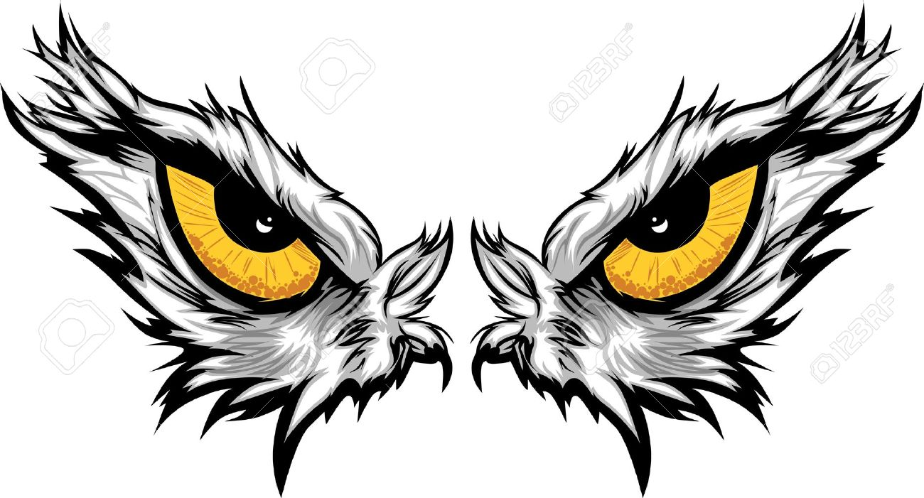 1300x701 Cartoon Vector Mascot Image Of An Eagle Eyes Royalty Free Cliparts