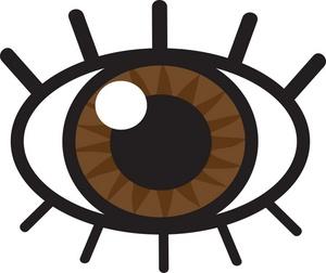 300x252 Eyeball Eye Clip Art Black And White Free Clipart Images 4