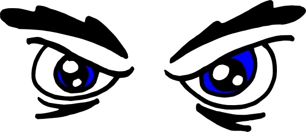 600x260 Angry Eyes clip art Free vector in Open office drawing svg ( svg
