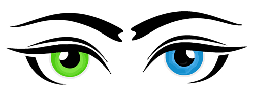 500x193 Blue eye clip art free clipart images –