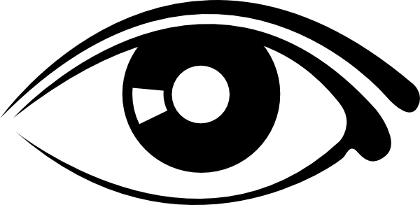 600x293 Eye Clip Art Black And White Free Clipart Images 3