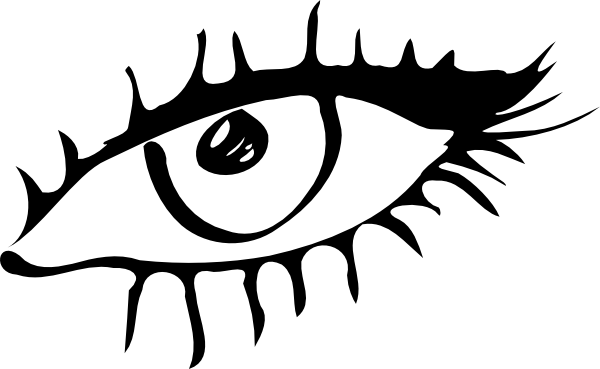 600x369 Evil Eyes Clipart Black And White