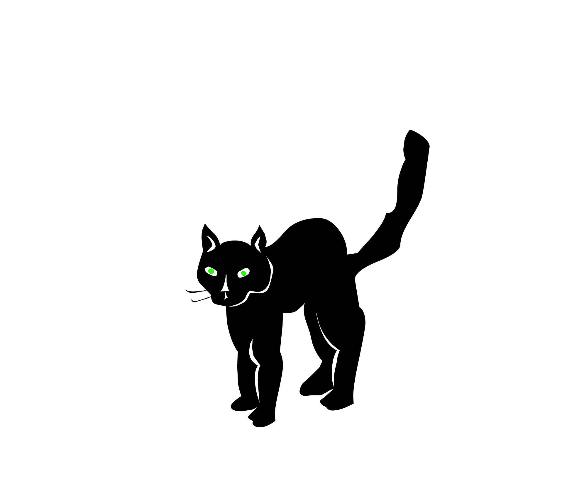 1991x1674 Cute Black And White Halloween Cat Clipart