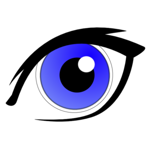 300x300 Blue Eye With Eyeliner Clip Art