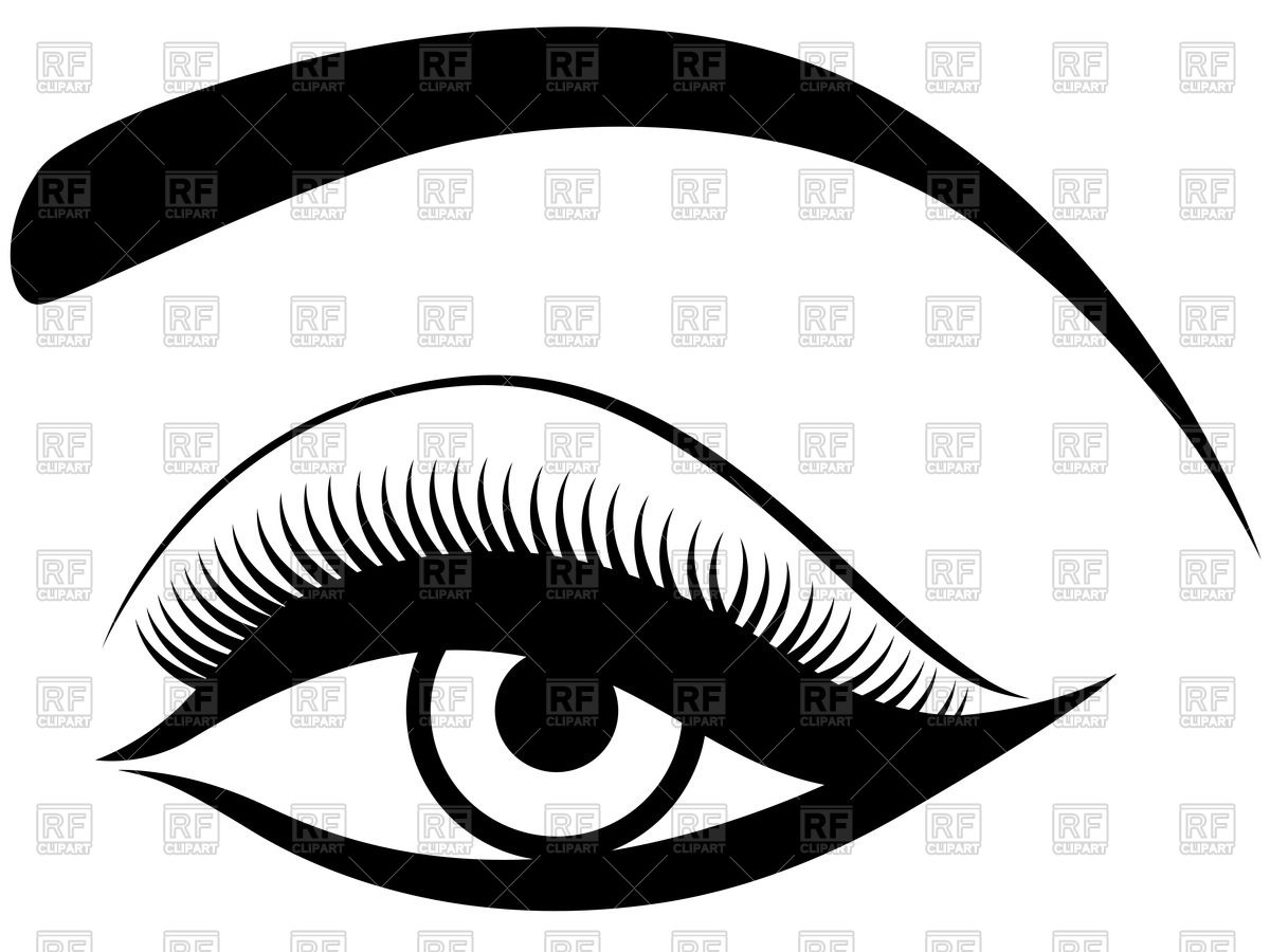1200x900 Female Eye With Painted Eyelashes Royalty Free Vector Clip Art
