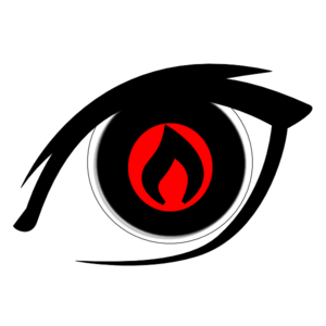 300x300 Burning Eye Clip Art