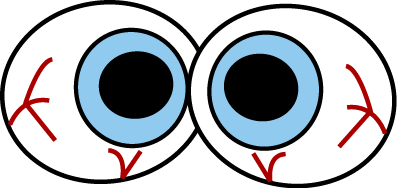 397x188 Creepy Eyeballs Clip Art