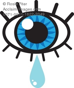 254x300 Clip Art Illustration Of A Crying Eye