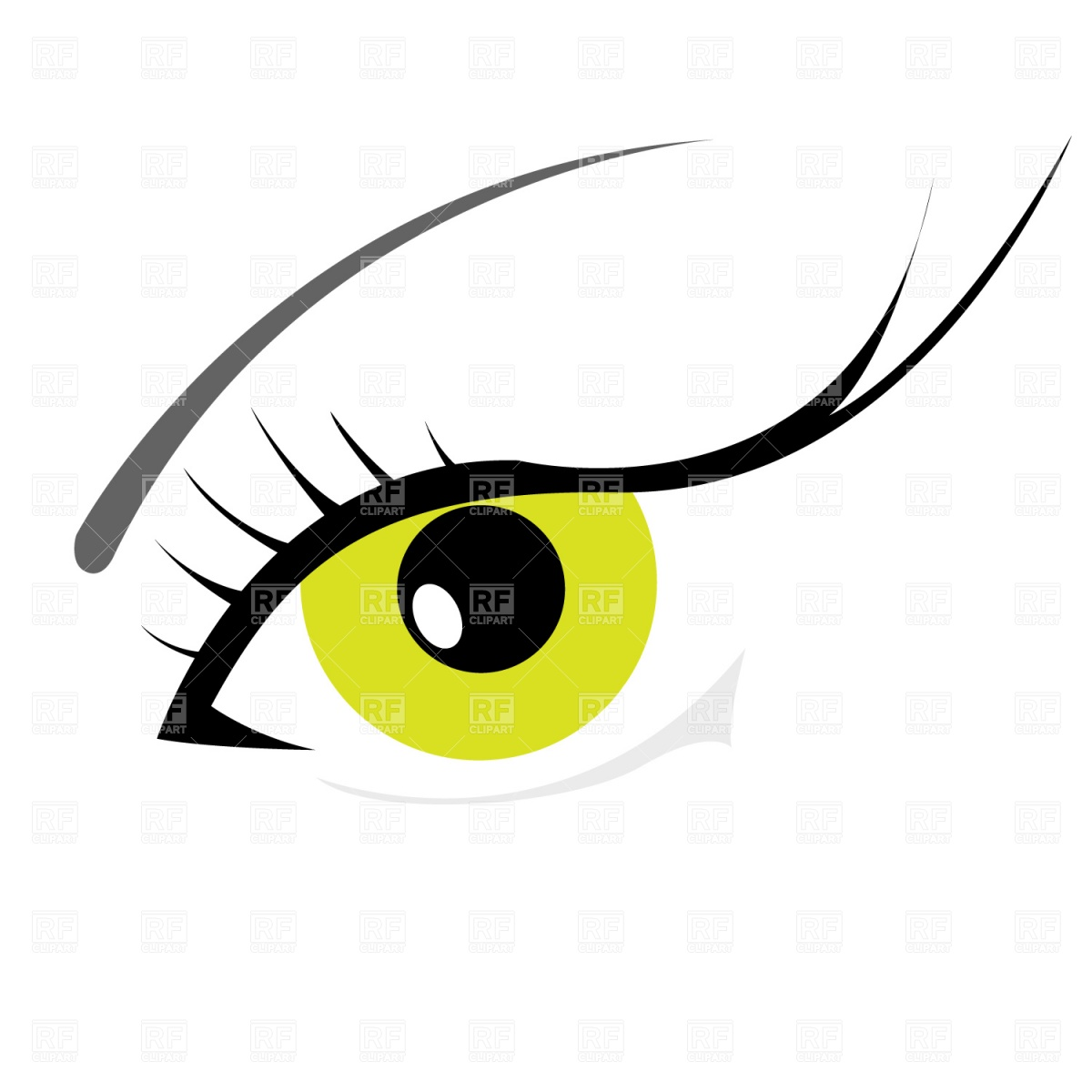 1200x1200 Woman's Eye With Eyelashes Royalty Free Vector Clip Art Image