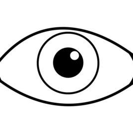 268x268 Eye Coloring Sheet Free Printable Pages Eyes